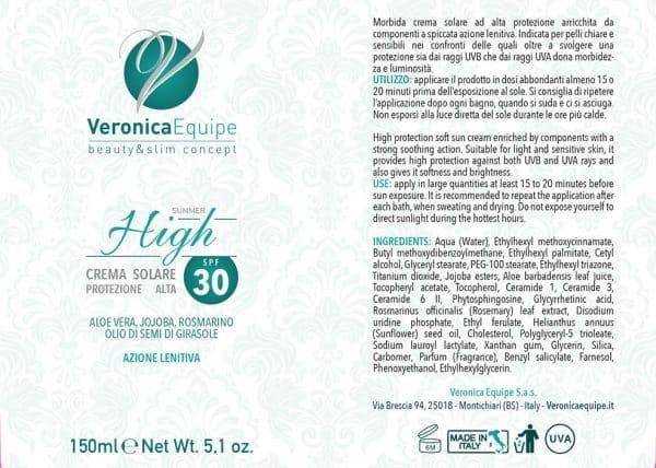 Veronica-Equipe-Prodotti-Etichetta-Crema-Solare-Alta-30