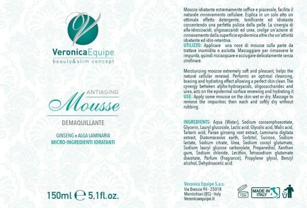 Veronica-Equipe-Prodotti-Etichetta-Mousse-Antiaging-Demaquillante